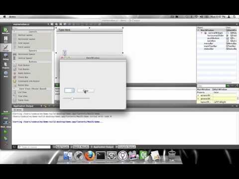 Basic example of using QT Creator on Mac.