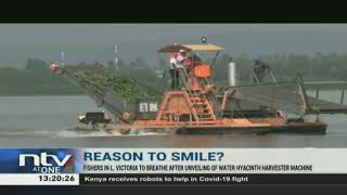 Kenya unveils Sh80M water hyacinth harvester