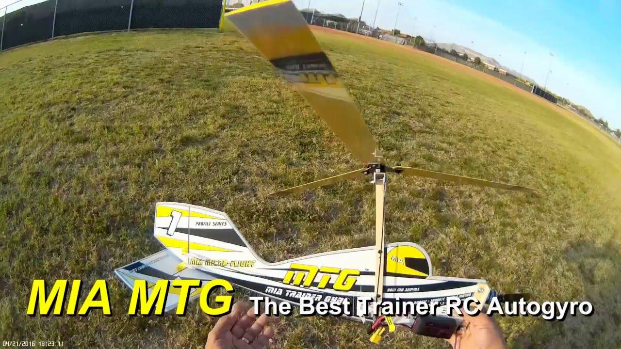 MIA MTG Trainer RC Autogyro New Kit Flight