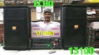 BHARAT ELECTRONICS BEST DJ SYSTEM 300 WATT ECHO AMPLIFIER LT UNIT TRANSFERMER 12 INCH SPEAKERS