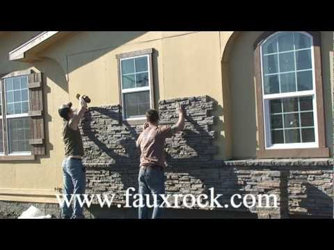 Installation stacked stone veneer panels over using for How to install stone veneer over stucco