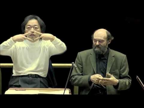 Arvo Pärt & Myung-Whun Chung Rehearsing Cecilia in Rome, Part 1.m4v