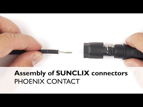Photovoltaik-Steckverbinder SUNCLIX PV-FT-CF-C-6-130-BU Schwarz Blau Phoenix