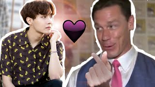 John Cena Showing his love for BTS for 6 minutes (mostly jhope)