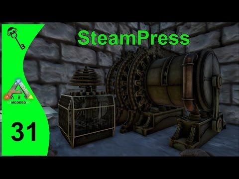 ARK Survival Evolved Modded : Steampunk Generator & Press  - EP31