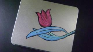Joyerito para mamá: Tulipan pintado en lata reciclada - manualidadesconninos