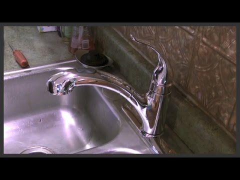 Kitchen faucet replacement - YouTube