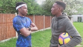 GARDEN FOOTBALL VS MY BROTHER!!!