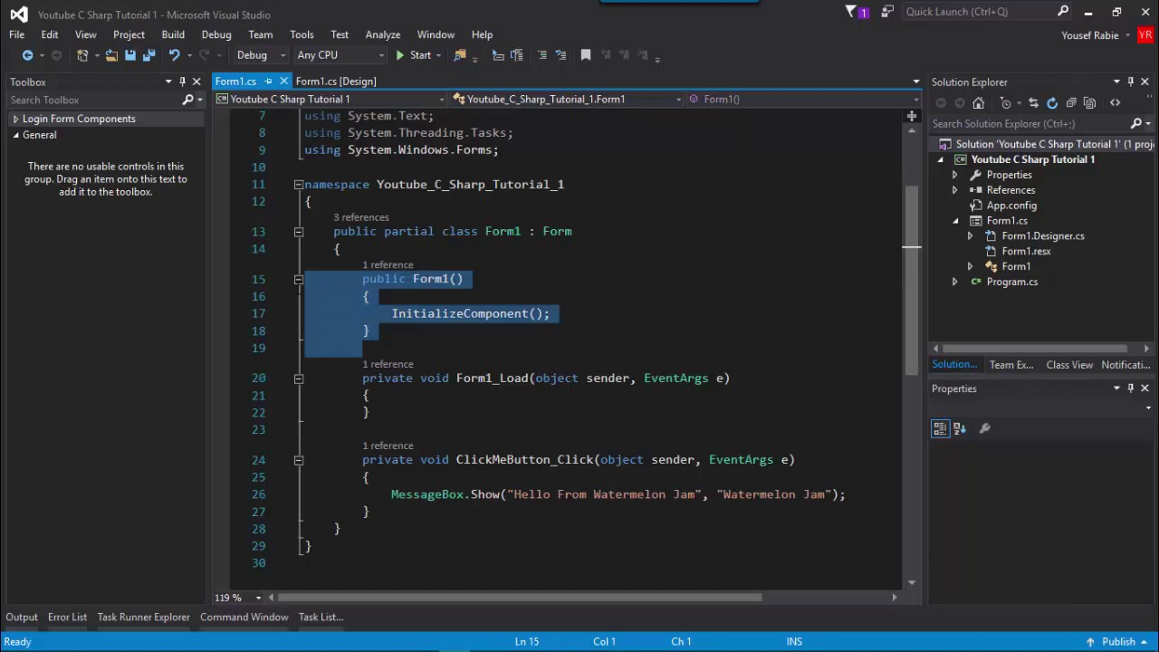 C# WF 6 : How to take input from user ? , Textbox