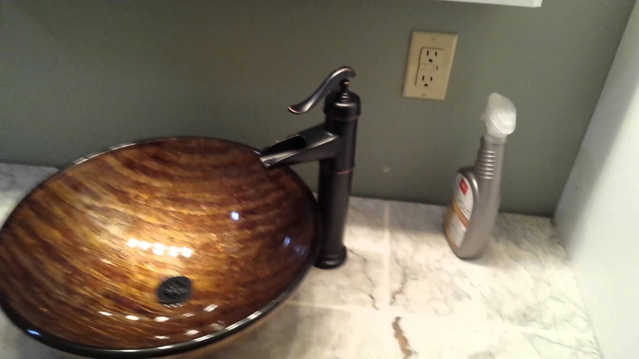 Vessel Sink with Natural Stone Countertop YouTube