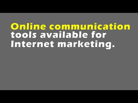 Online Communication Tools