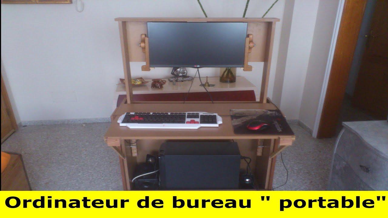 homemade standing desk bureau assis debout youtube. Black Bedroom Furniture Sets. Home Design Ideas