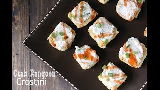 Crab Rangoon Crostini