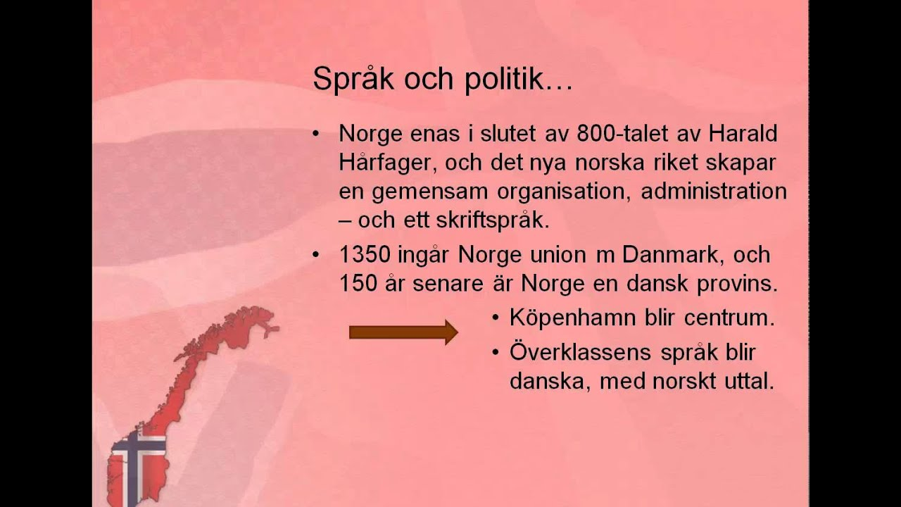 Kort Om Norsk Sprakhistoria Youtube