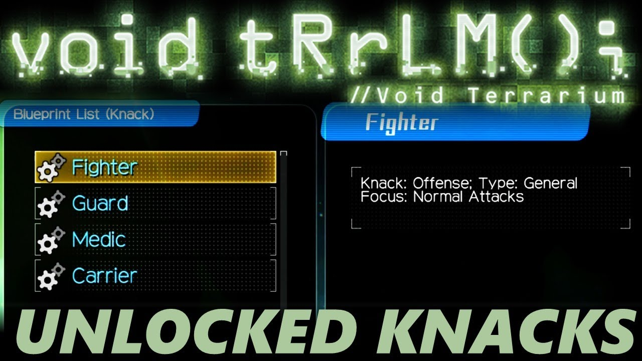 What Are Knacks - Void Terrarium Unlocked Knacks Trying Them Out - Customize Your Robot Class