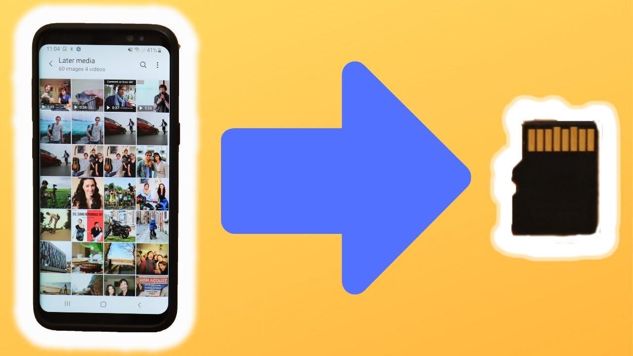 transferer photo tablette samsung vers carte sd Comment DÉPLACER ses PHOTOS vers sa CARTE SD (en 2 min)   YouTube