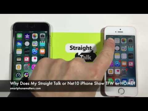 Why Does My Straight Talk or Net10 iPhone Show TFW Instead