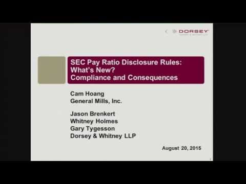 Seminar Playback: SEC Pay Ratio Disclosure Rules: What's New