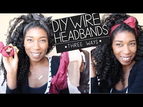DIY Wire Headbands + Bun Wire Ties [No Sew] 3 WAYS