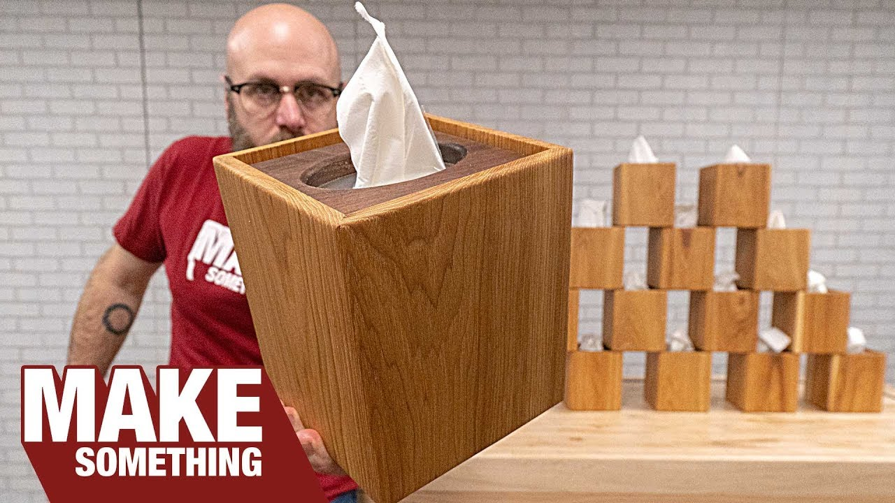 woodworking project | how to make a wood tissue box cover