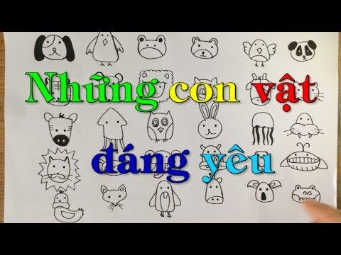 [Animals doodles] Hướng dẫn vẽ con vật đơn giản!