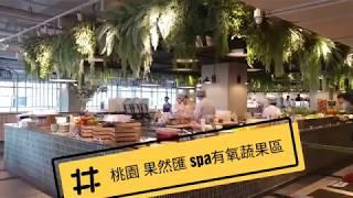 桃園最時尚蔬食吃到飽-什麼!生菜要洗完SPA才能吃-果然匯統領店-海霸威食遊影記