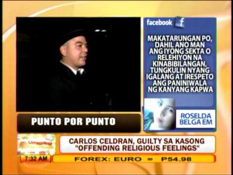 Punto por Punto: Carlos Celdran, guilty sa kasong 'offending religious feelings'