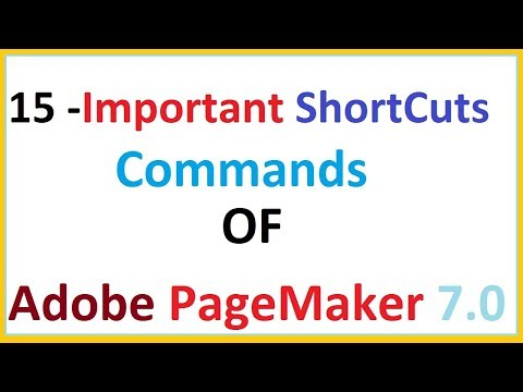 15 Shortcuts commands Of Adobe Pagemaker 7 0