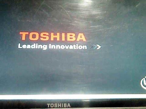 Toshiba Laptop jammed at Toshiba logo, Fixed