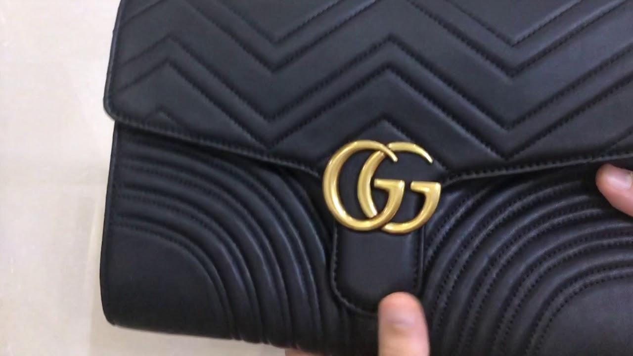 6af0d3f1e659b1 Gucci Marmont Clutch Bag Replica Review - YouTube