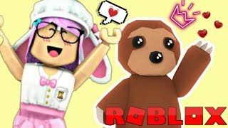 ROBLOX-I GOT THE PET SLOTH IN ADOPT ME