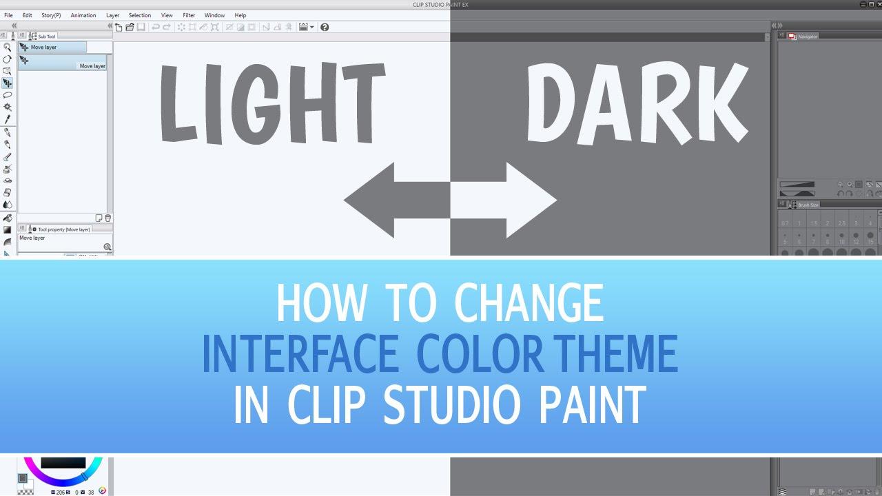 How To Change Interface Color In Clip Studio Paint Clip Studio Paint Tutorial