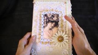A Vintage style decorated notebook that I have made my dear friend Kay