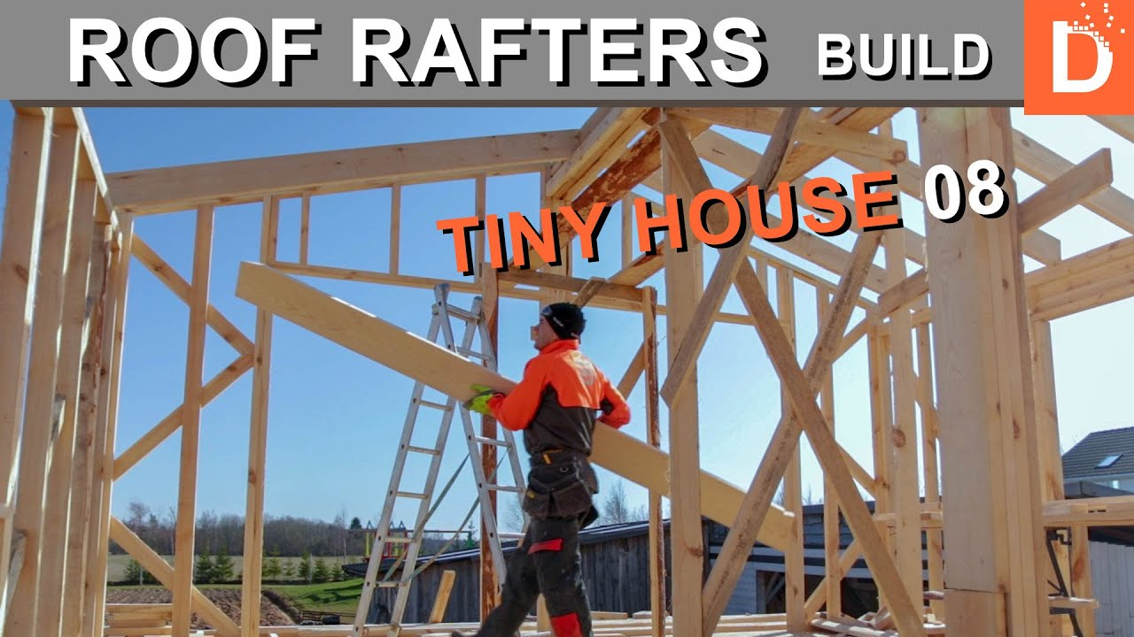 Tiny House Roof Rafters Build Youtube