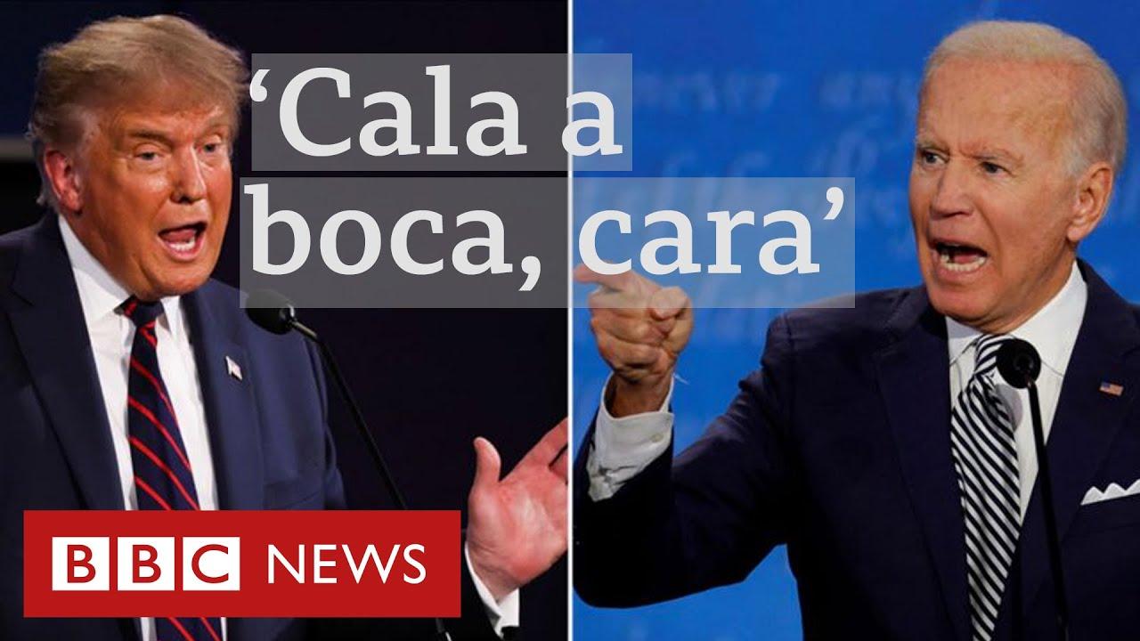'Cala a boca, cara': Trump e Biden fazem debate caótico