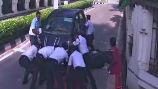 Accident in technopark trivandrum