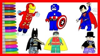 Lego Superhero Ninjajo Coloring pages Your favourite Lego superheros BATMAN,FLASH,GREEN LANTERN+MORE