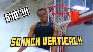 "50 INCH VERTICAL! 5'10"" D-League Dunk Champ John Jordan Hits His HEAD on the Rim! Video"