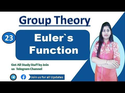 Euler's φ(n) Function  Euler phi Funciton in hindi : group Theory
