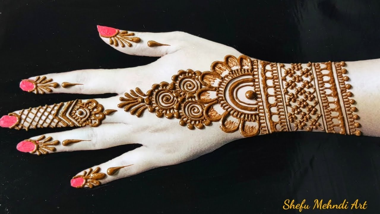 arabic mehndi design simple and easy for back hand