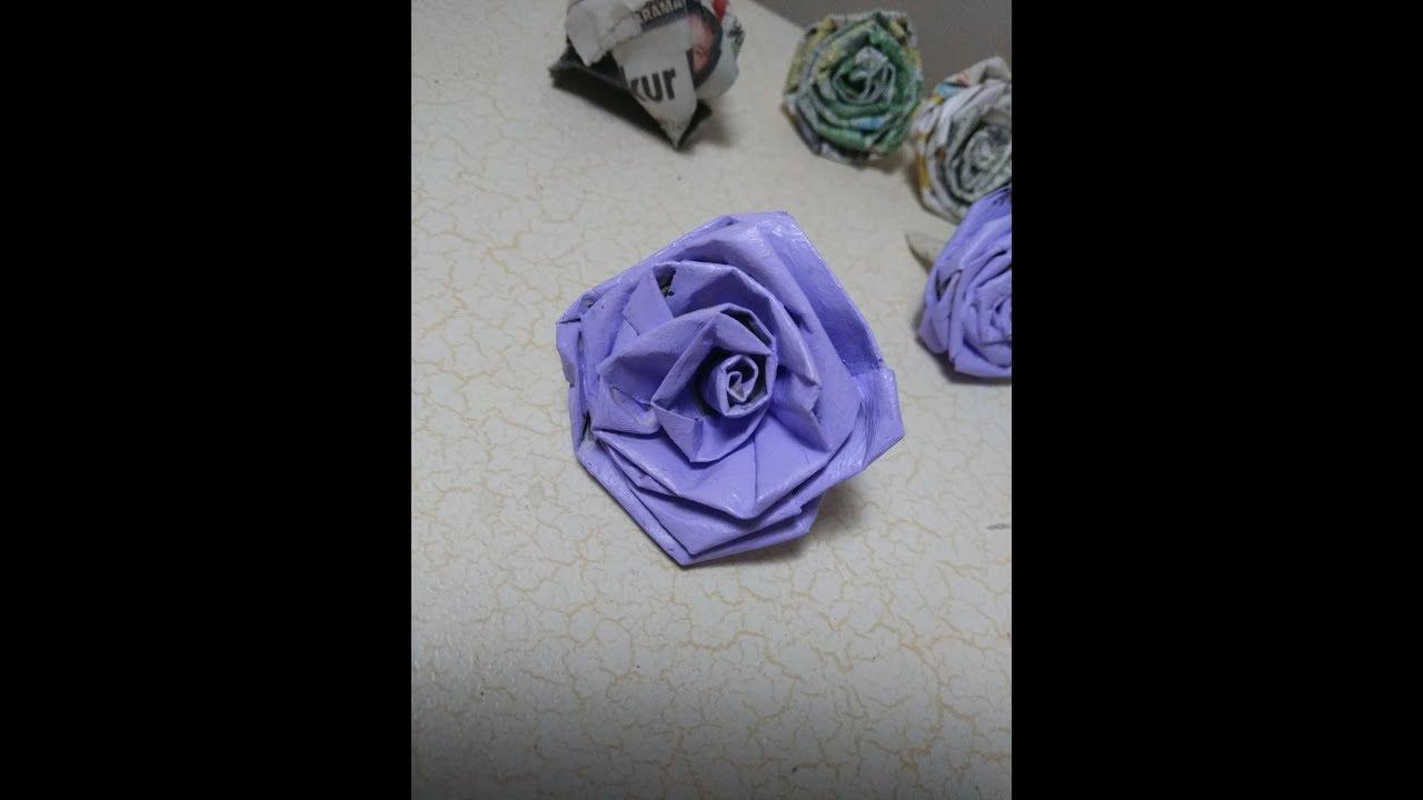 Gazete Kağıdından Nasıl Çiçek Yapılır