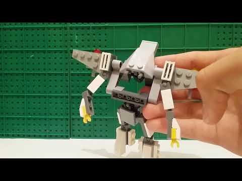 Туториал как сделать трансформера самолёта из LEGO