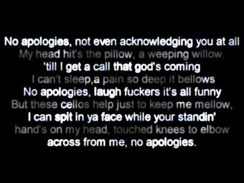 Eminem - No Apologies Lyrics