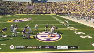 """NCAA 14:MUST SEE ENDING-""""NCAA FOOTBALL 14"""" ONLINE GAMEPLAY-#12 LSU Vs. #9 CLEMSON"""