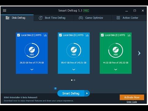 iobit smart defrag free