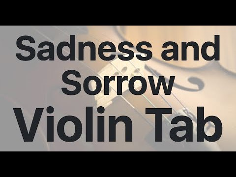Learn Sadness And Sorrow On Violin - How To Play Tutorial