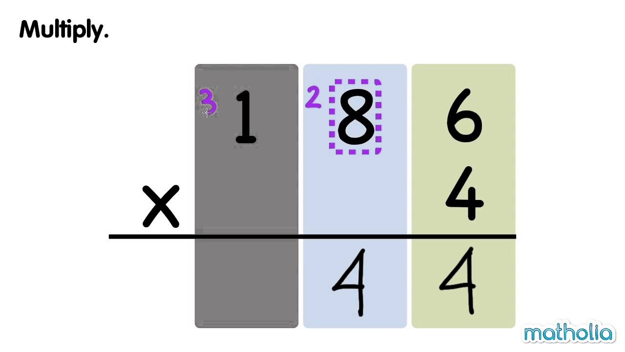 Multiplication With Regrouping - YouTube [ 720 x 1280 Pixel ]