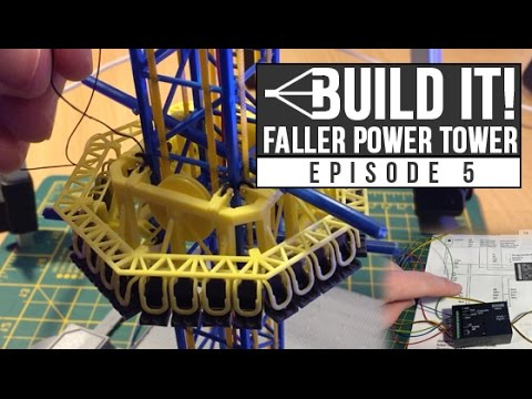 HTR Build It! Faller Power Tower | Episode 5 | Threading the tower & first test attempt!