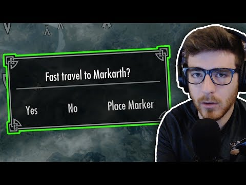 Can you beat Skyrim Fast-Travel, with unlimited Run Speed?