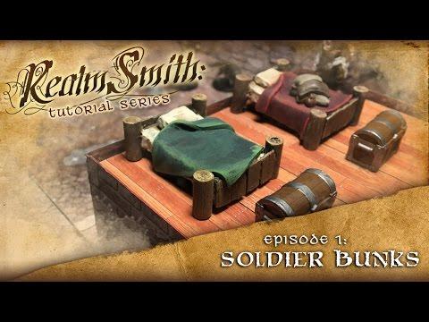 D&D Tabletop RPG Terrain Prop Tutorial - Episode 1: Soldier Bunks
